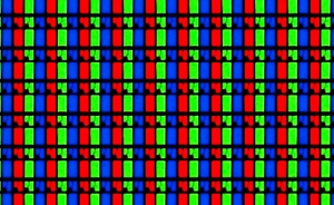 """Imaxe dos leds de cada cor que ten cada """"pixel""""."""