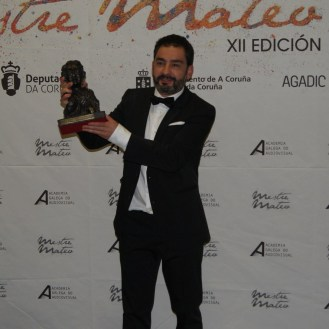 """Ricardo Barreiro premiado á mellor interpretación masculina de reparto por """"Somos xente honrada""""."""