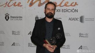 """Alberto Díaz """"Bertitxi"""" premiado á mellor dirección de fotografía por """"Encallados""""."""