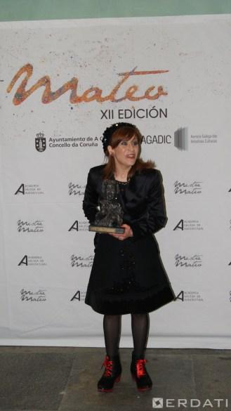 Isabel Risco unha das grandes protagonistas da gala co seu reivindicativo discurso. Premio á mellor actriz de reparto.