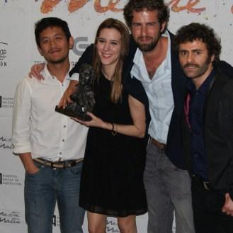 """Premiados a mellor serie web por """"Entre pipas""""."""