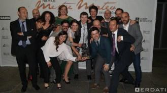 """O equipo de """"Era visto!"""" co premio á mellor serie de televisión."""