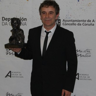 """Miguel de Lira, premiado á mellor interpretación protagonista por """"Somos xente honrada""""."""