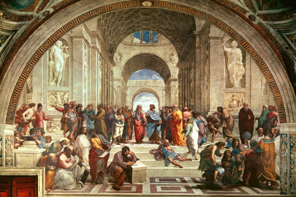 Na antiga Grecia as discusións entre os intelectuais da época tiñan que ser o pan de cada día.
